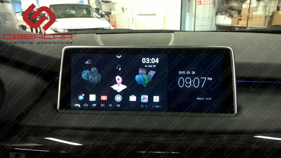 Режим с отображением штатной информации от автомобиля. Переход из одного режима в другой осуществляется путем нажатия i-Drive вправо.