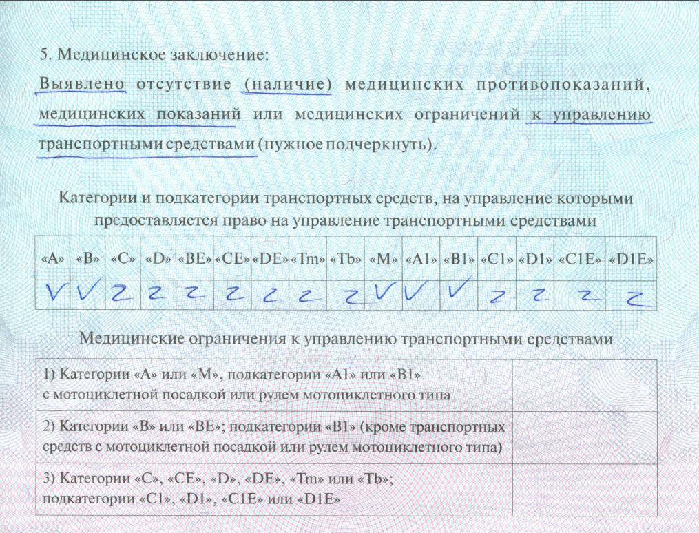 Медицинская справка для замены водительского удостоверения в сзао где нужна медицинская справка водителя
