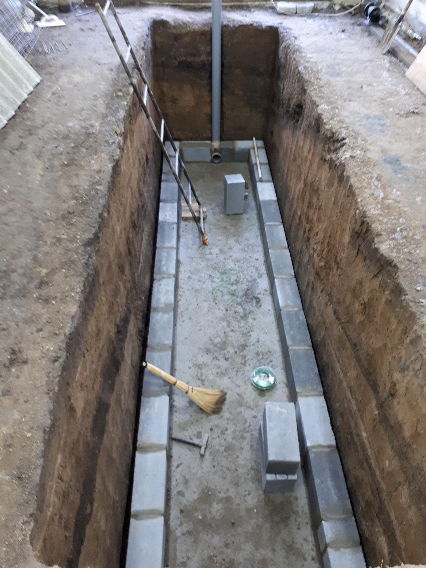 смотровая яма из шлакоблока