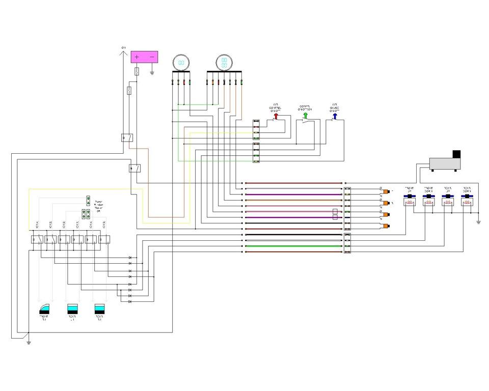 Схема управления 2-х контурной