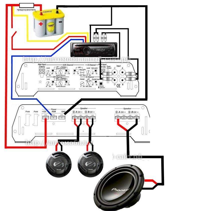 підключення кенвуд схема магнітоли
