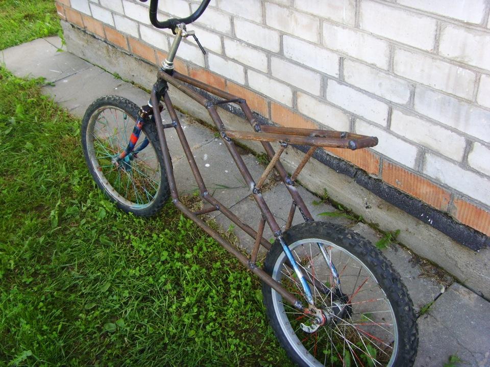 Как сделать мопед из велосипеда с бензопилы
