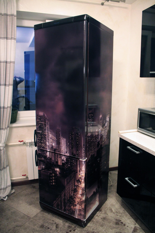 Обклеиваем холодильник своими руками 258