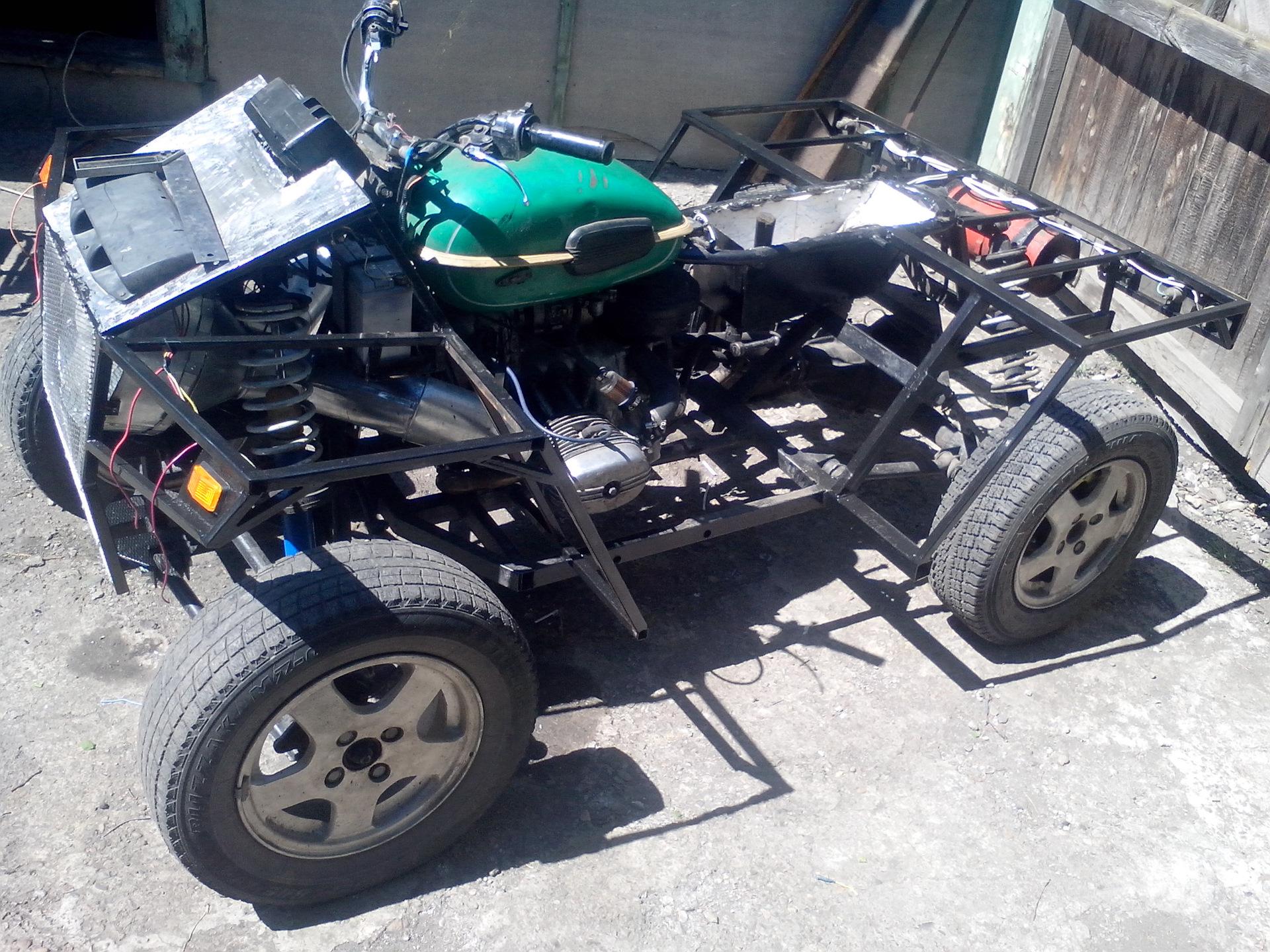 фото переделанный мотоцикл урал под квадроцикл принимает приглашение