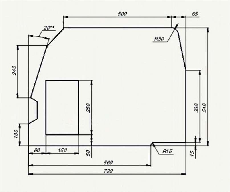 чертеж акустической полки ВАЗ 2112 — drive2