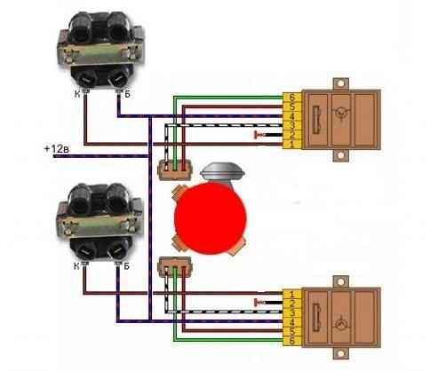 Электрическая схема двухконтурного зажигания