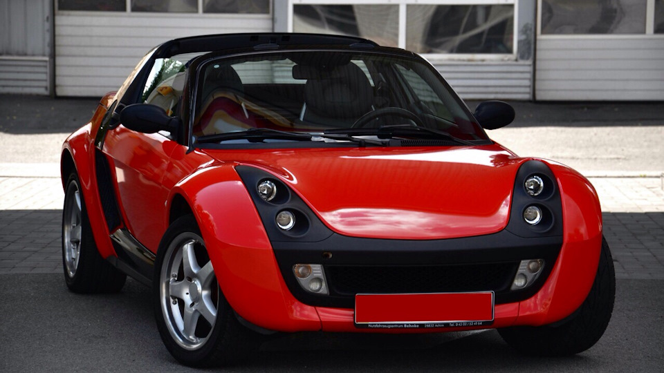 smart roadster cabrio red black drive2. Black Bedroom Furniture Sets. Home Design Ideas