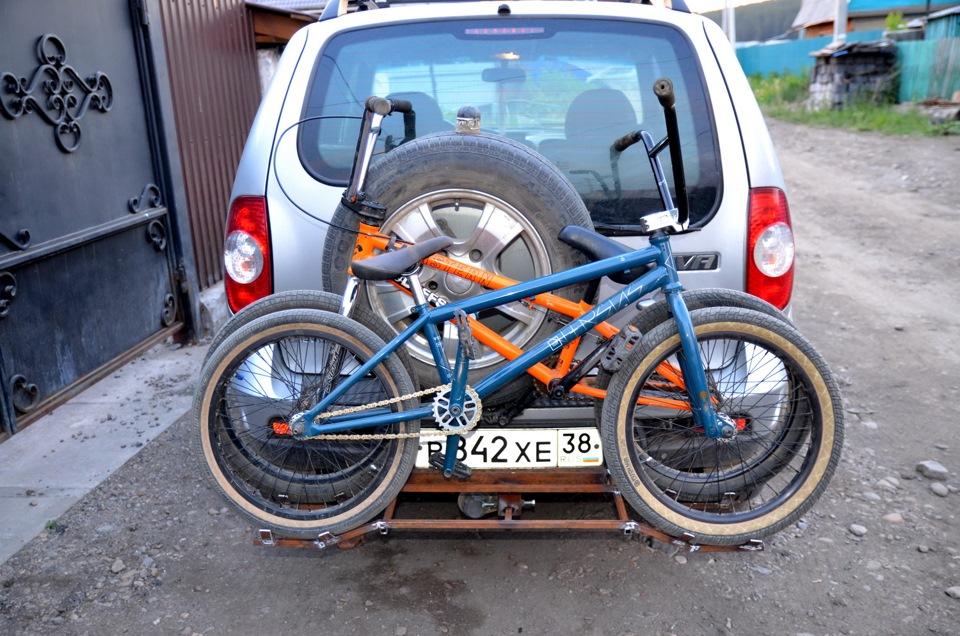 Крепеж для велосипеда на машину своими руками