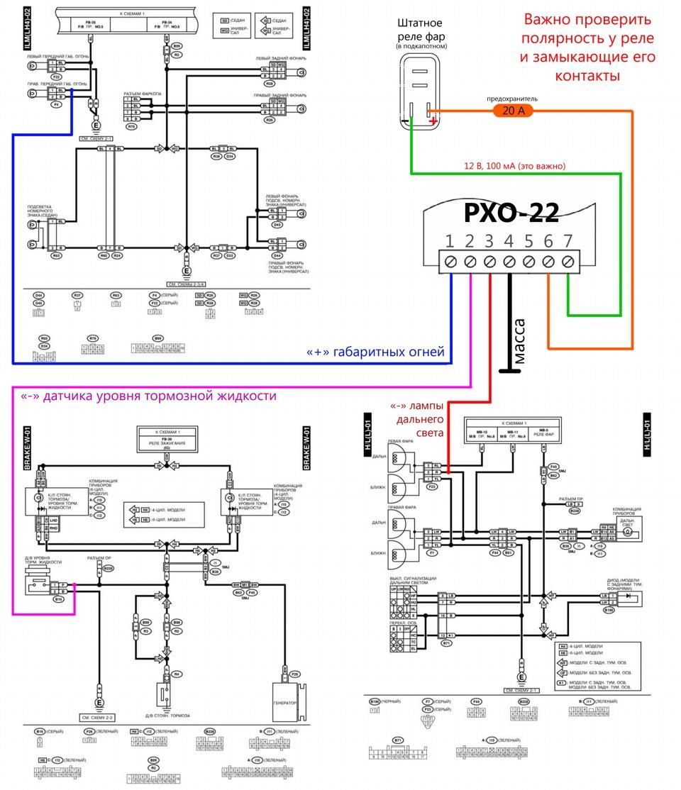 Схема управления стеклоподъемниками субару форестер