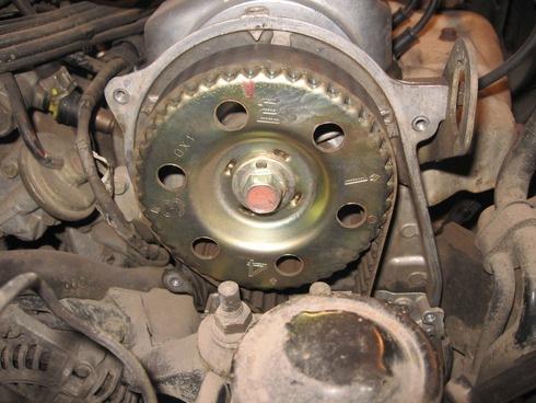 метки на шкиву коленвала на двигателе fe mazda 626