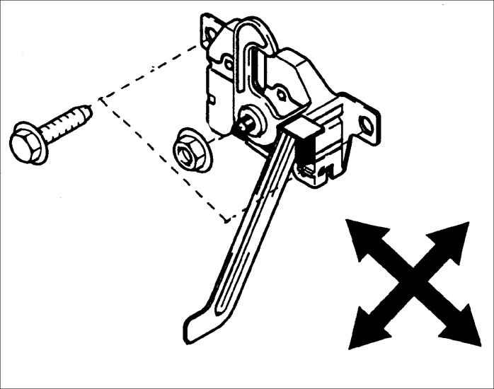 Схема замка капота