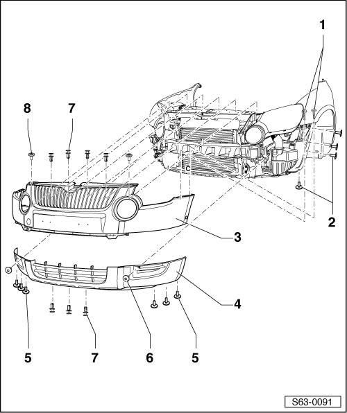 Общая схема монтажа переднего