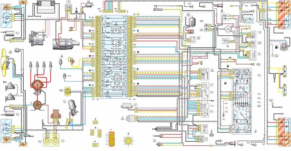 Схема ВАЗ 2107.