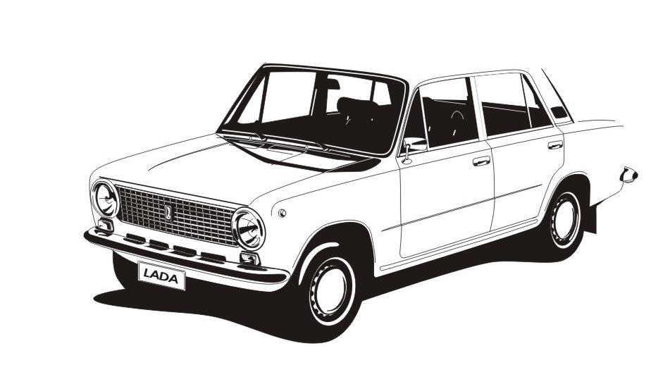 раскраска советские автомобили как фото, так