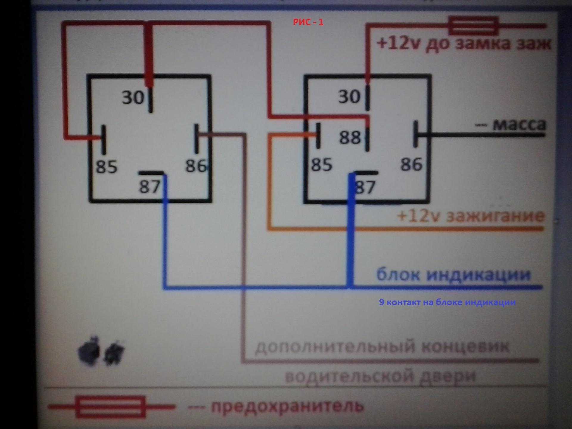 Блок бортовой системы контроля схема фото 830