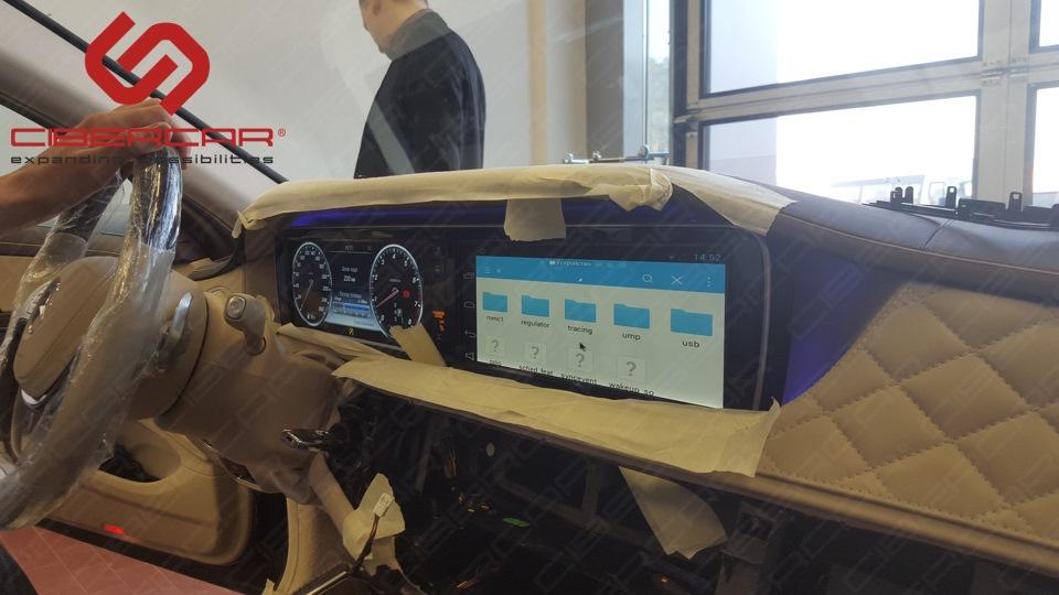Установка фирменного (в стиле Mercedes) лаунчера. Владелец отдельно оплатил разработку «юзер-интерфейса» рабочего стола по своему желанию.