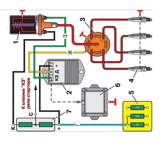 схема электронного зажигания уаз 469