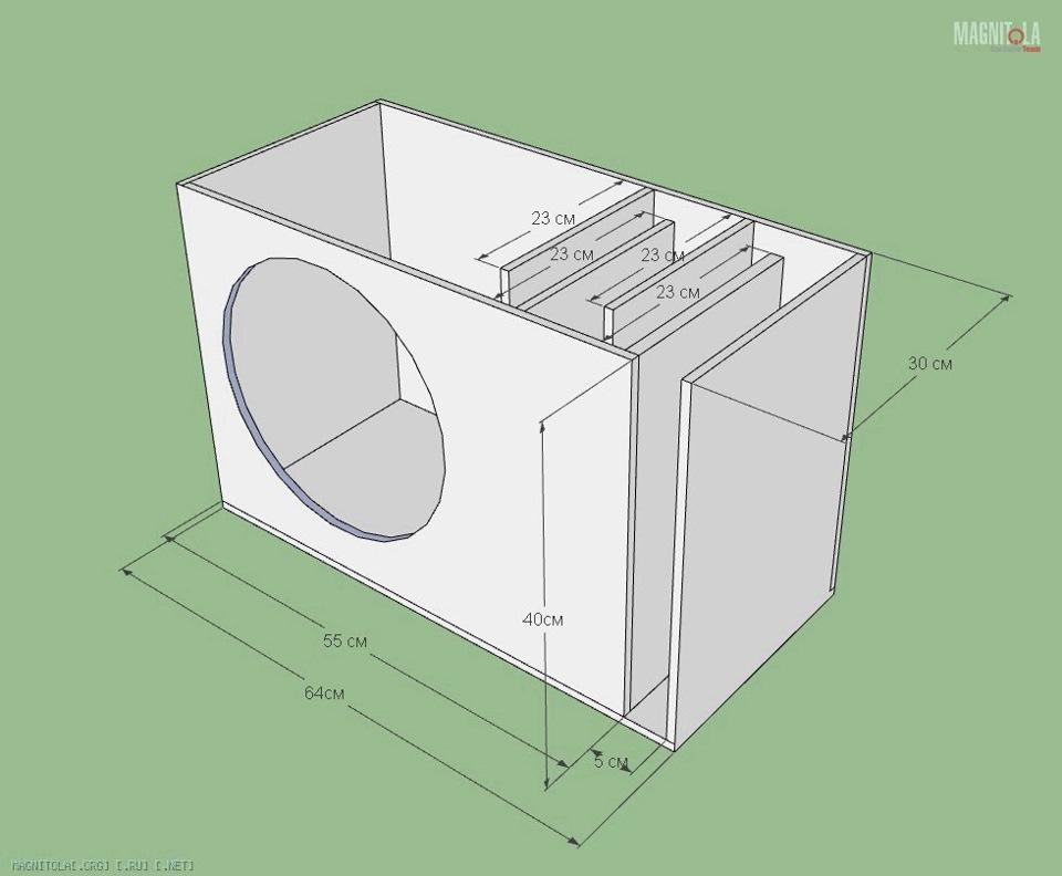 Как сделать короб для саба фи