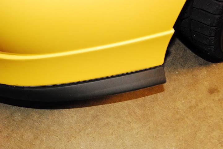 Юбка на передний бампер универсальная