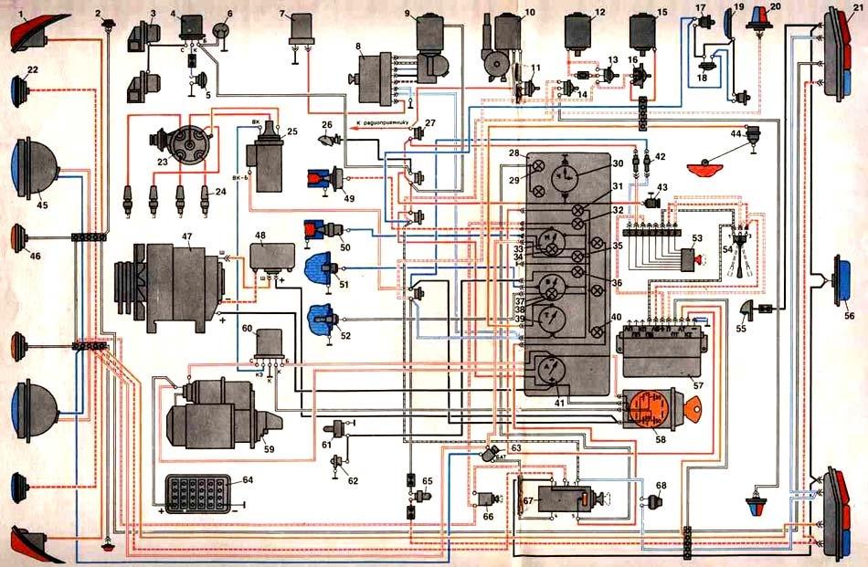 Газ 24 схема переключателей