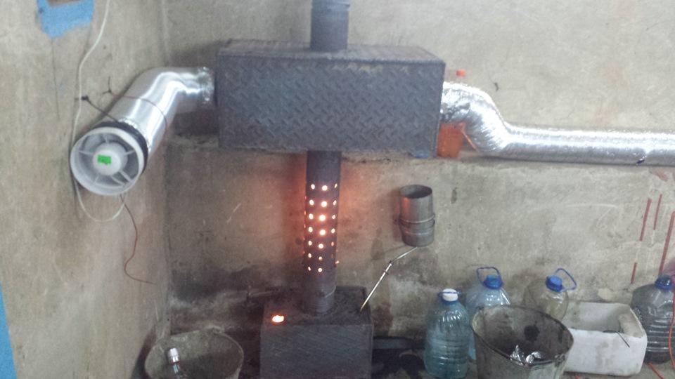 Печка для отработанного масла своими руками