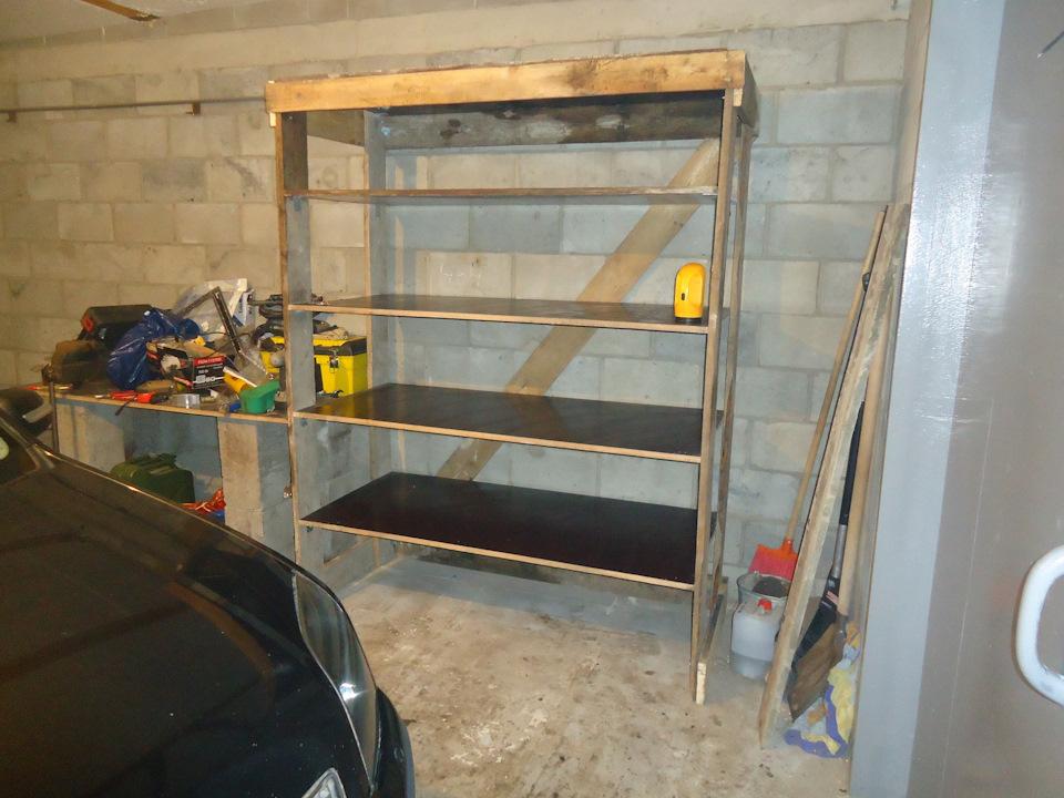 Изготовление стеллажа в гараж своими руками 37