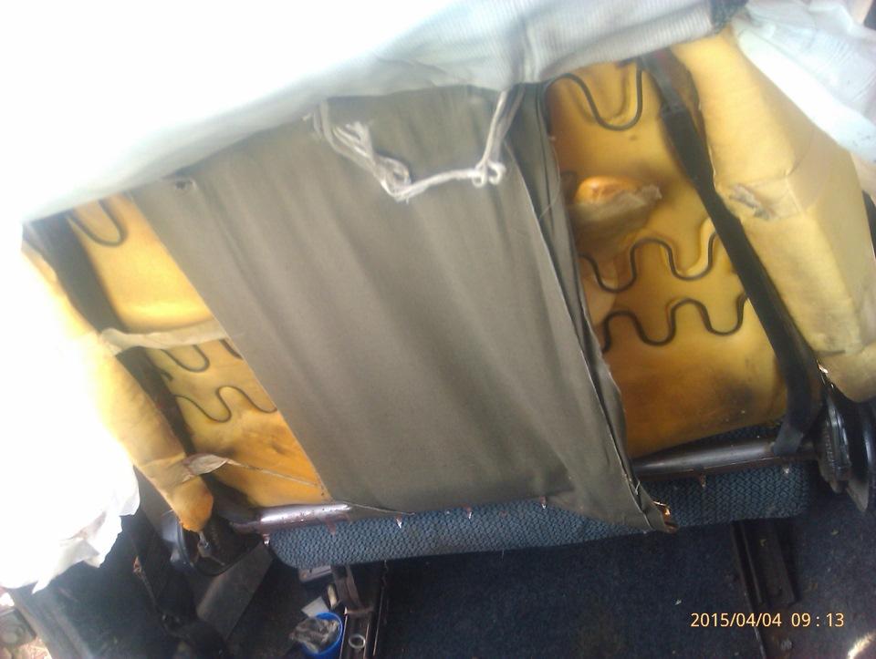 как снять чехлы с сидений ваз 2110