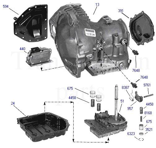 Dodge Dynasty 1993 Transmission Transfer Case: Automatic Transmission Chrysler A604 (40TE, 41TE