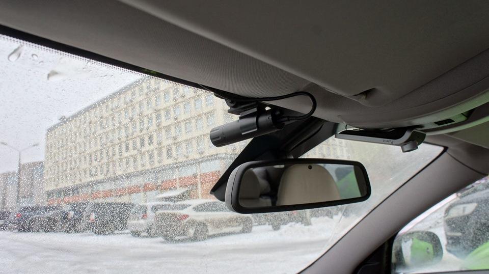 Установка видеорегистратора с выносной камерой