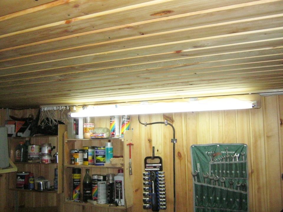 Свет в гараж своими руками 95