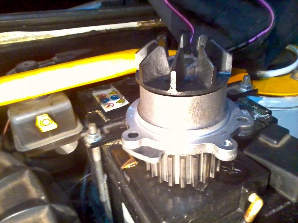 Замена помпы лада калина 8 клапанов своими руками