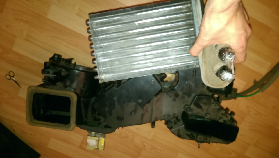 засорился радиатор печки в skoda tuor