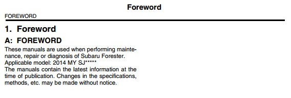 subaru forester 2008 service manual pdf