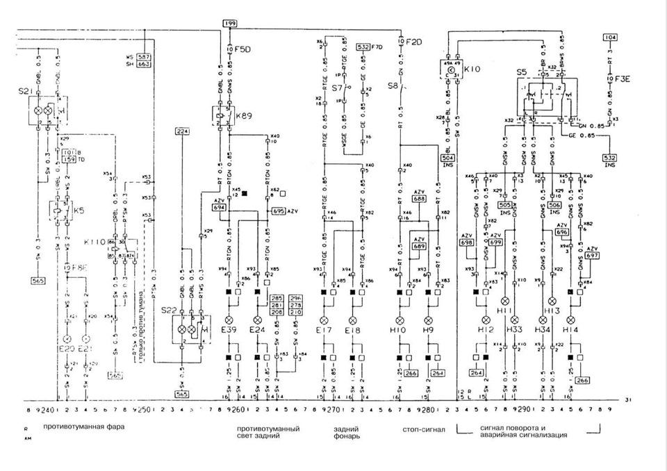Пояснения к электрическим
