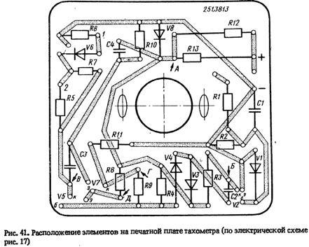 Схема тахометра электрического.