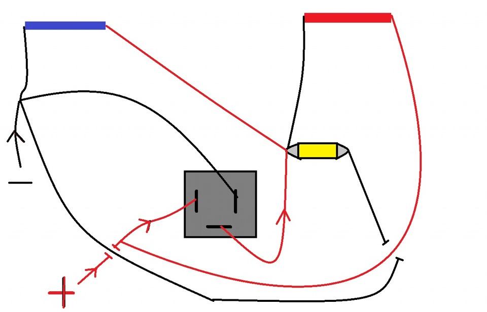схему из реле поворотов от