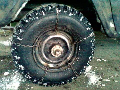 Цепи на колеса уаза