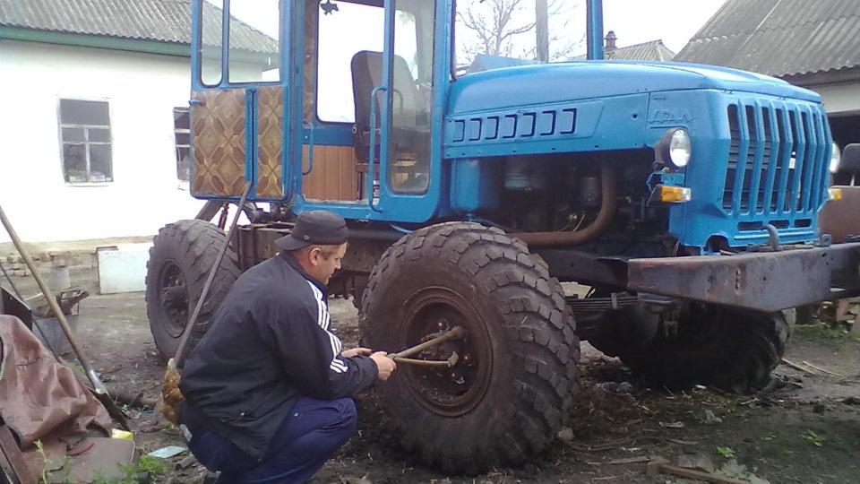Газ 66 на самодельный трактор 36