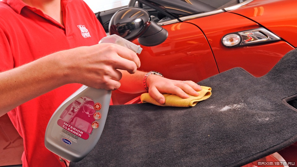 Чем отмыть потолок в машине в домашних условиях