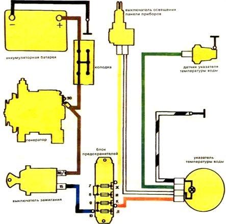 Схема подключения датчика температуры радиатора ваз 2106