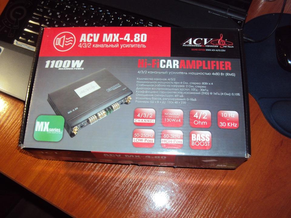 Автомобильный усилитель ACV MX-4.80 - фото 5