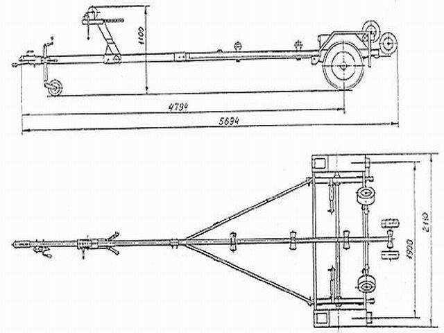 Прицепы для лодки своими руками чертежи 183