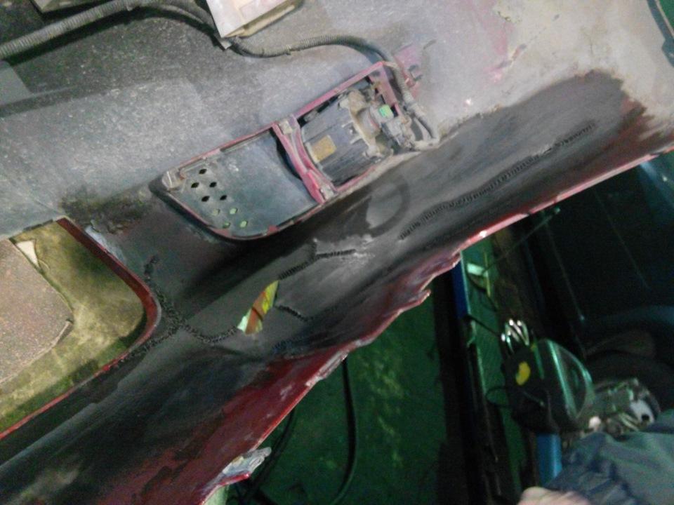 Ремонт покраска пластикового бампера