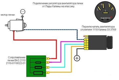 Схема подключения вариатора от