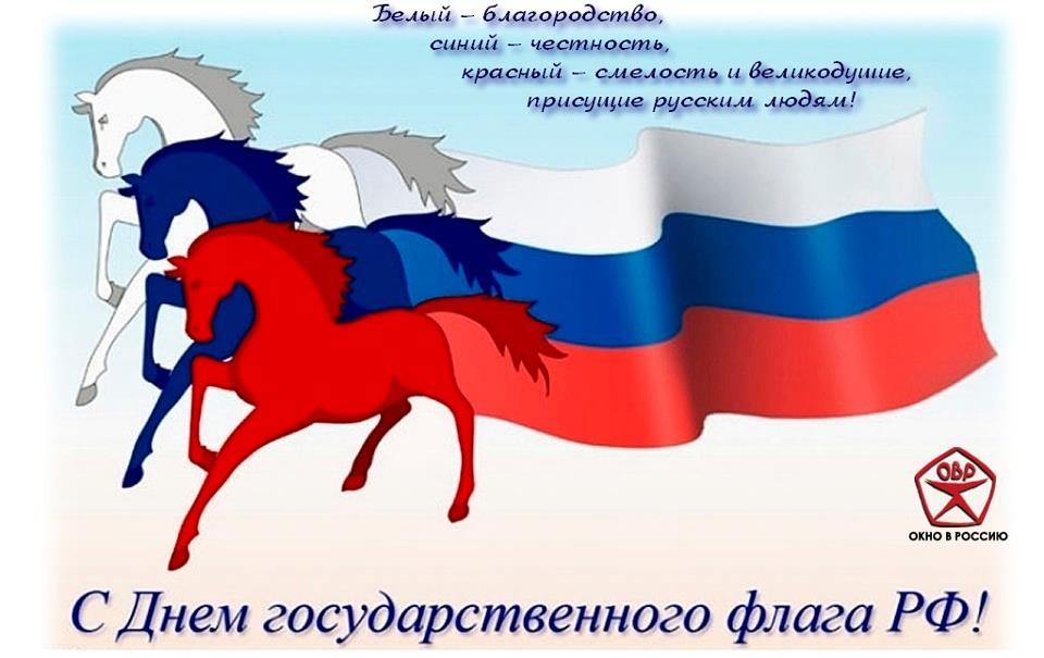 Три цвета флага россии
