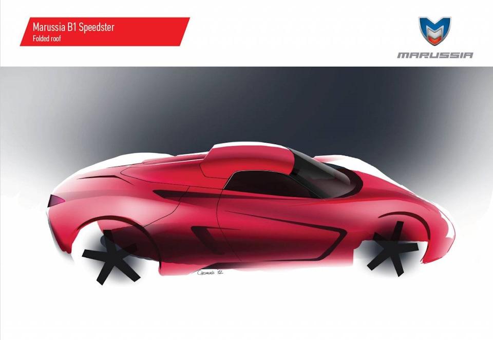 Эскиз Marussia B1 Speedster