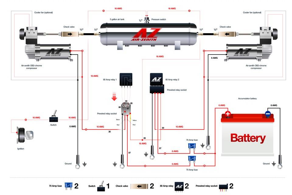 Схема пневматическая Haldex Тонар-95231 (Чертеж