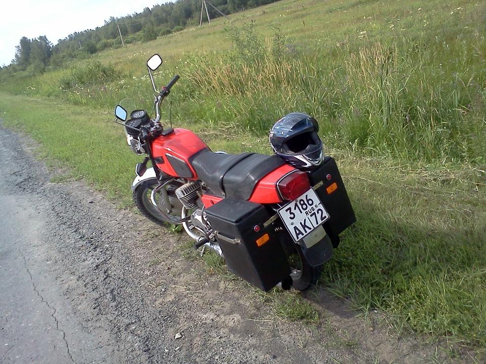 Как сделать багажник на мотоцикл