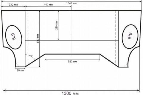Акустическая полка на Ваз 2112 ( чертеж разметка ) — logbook lada