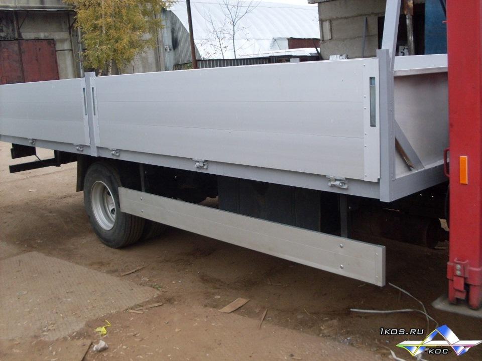 Боковая защита на грузовиках своими руками